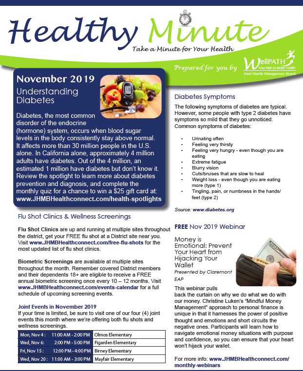 Download the Healthy Minute